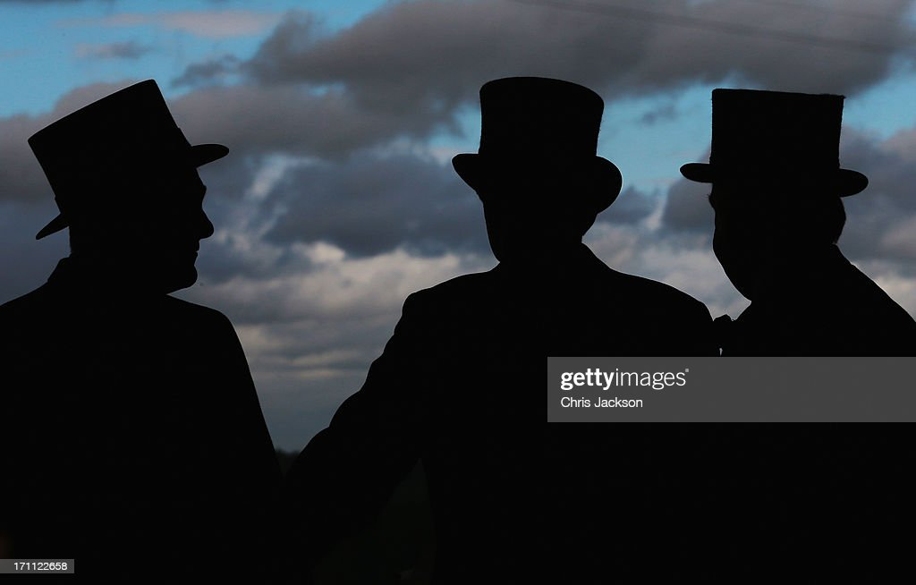 Gentlemen in Hats attend day five of Royal Ascot at Ascot Racecourse on June 22, 2013 in Ascot, England.