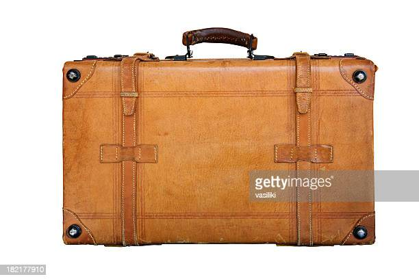 Genuine leather suitcase