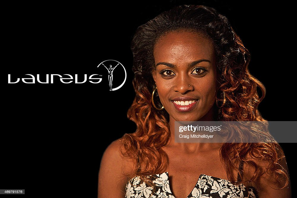 <a gi-track='captionPersonalityLinkClicked' href=/galleries/search?phrase=Genzebe+Dibaba&family=editorial&specificpeople=5083525 ng-click='$event.stopPropagation()'>Genzebe Dibaba</a> of Ethiopia, winner of the Laureus World Sportswoman of the Year 2015 poses on March 31, 2015 in Beaverton, Oregon, USA.