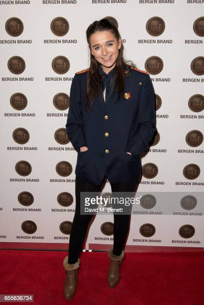 Geo Rushby attends the Bergen Brand Handbag launch at Wolf Badger on March 16 2017 in London England