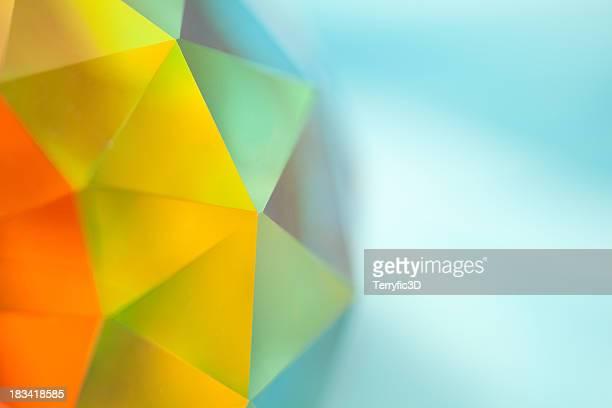 Sphère de cristal prismatique géodésique spectre de couleur