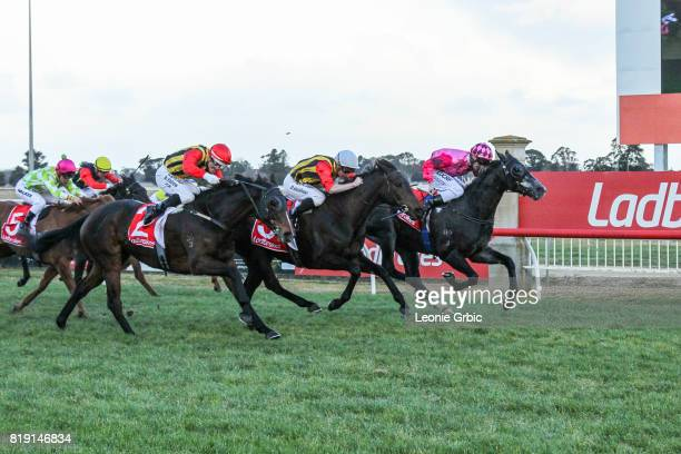 Geodude ridden by Brad Rawiller wins the Gippsland Funeral Services Class 1 Handicap at Sale Racecourse on July 20 2017 in Sale Australia