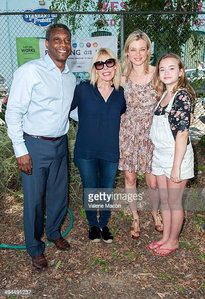 Geof Rochester Debbie Levin Amy Smart and Johnny Sequoyah attend The Environmental Media Association's 5th Annual LA School Garden Program Luncheon...