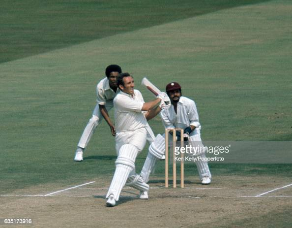 Geoff Arnold batting for England during the 2nd Test match between England and West Indies at Edgbaston Birmingham 13th August 1973 The wicketkeeper...