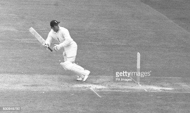 Geoff Boycott appointed captain of Yorkshire is seen at the wicket He has played in tests since 1964 and is the only English batsman ever to have an...