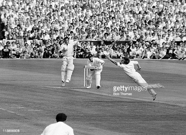 Geoff Boycott batting for Yorkshire against Lancashire during their County Championship match at Old Trafford in Manchester 31st August 1970 The...