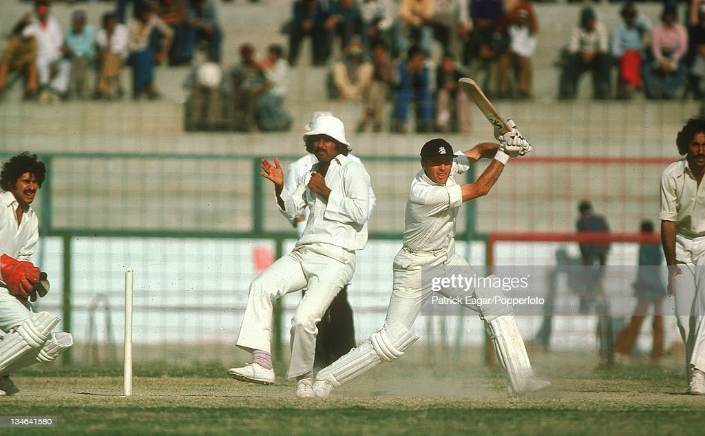 Geoff Boycott Pakistan v England 3rd Test Karachi Jan 197778