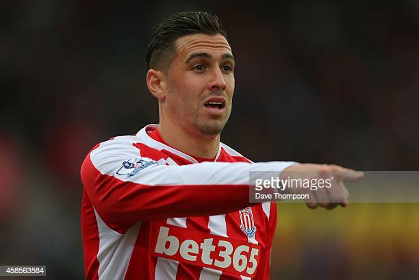 Geoff Cameron of Stoke City during the Barclays Premier League match between Stoke City and West Ham United at the Britannia Stadium on November 1...