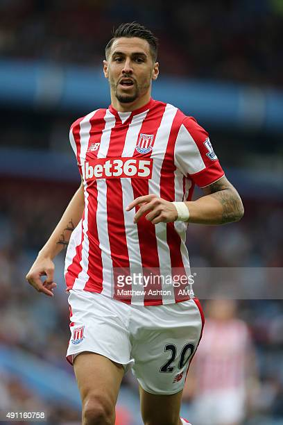 Geoff Cameron of Stoke City during the Barclays Premier League match between Aston Villa and Stoke City at Villa Park on October 03 2015 in...