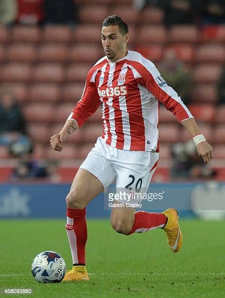 Geoff Cameron of Stoke City during the Capital One Cup Fourth Round match between Stoke City and Southampton at Britannia Stadium on October 29 2014...