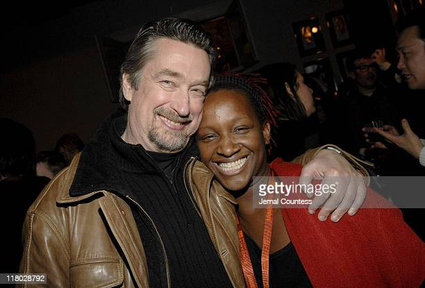 Geoff Gilmore and Effie Brown during 2007 Sundance Film Festival World Cinema Party at The River Horse in Park City Utah United States