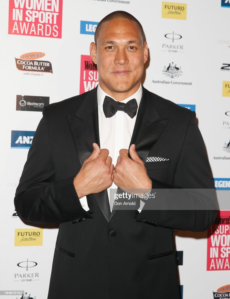 Geoff Huegill arrives at the 'I Support Women In Sport' awards at The Ivy Ballroom on October 15, 2013 in Sydney, Australia.
