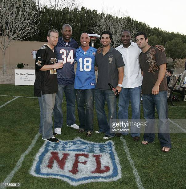 Geoff Jenkins Jermaine Dye Lance Morris Eric Chavez Gary Mathews Jr and Conner jackson during the Morris Foundation's Super Bowl Bash to benefit the...