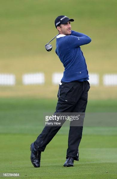Geoff Ogilvy of Australia hits a shot during the second round of the ATT Pebble Beach National ProAm at Pebble Beach Golf Links on February 8 2013 in...