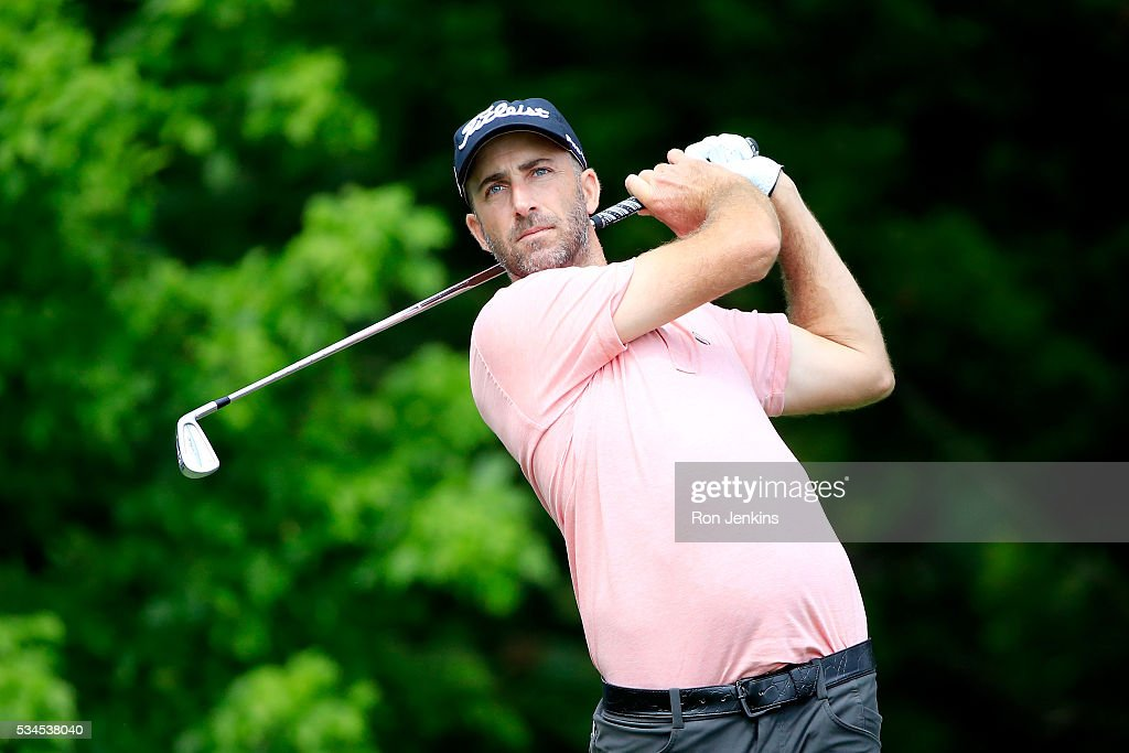 <a gi-track='captionPersonalityLinkClicked' href=/galleries/search?phrase=Geoff+Ogilvy&family=editorial&specificpeople=224652 ng-click='$event.stopPropagation()'>Geoff Ogilvy</a> of Australia plays his shot from the eighth tee during the First Round of the DEAN & DELUCA Invitational at Colonial Country Club on May 26, 2016 in Fort Worth, Texas.