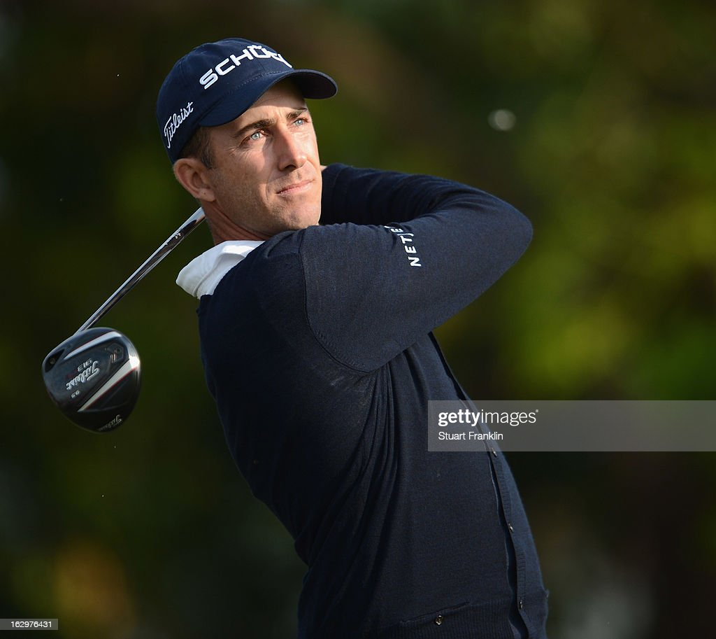 Geoff Ogilvy of Australia plays his tee shot on the 14th hole during the third round of the Honda Classic on March 2, 2013 in Palm Beach Gardens, Florida.