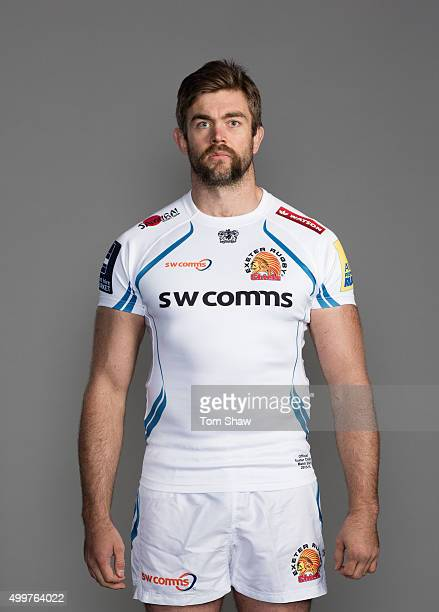 Geoff Parling of Exeter Chiefs poses for a picture during the Exeter Chiefs photocall for BT at Sandy Park Stadium on November 23 2015 in Exeter...