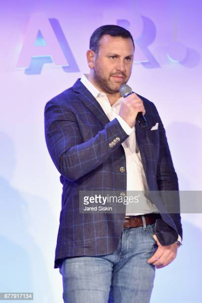 Geoff Schiller speaks on stage during the POPSUGAR 2017 Digital NewFront at Industria Studios on May 3 2017 in New York City