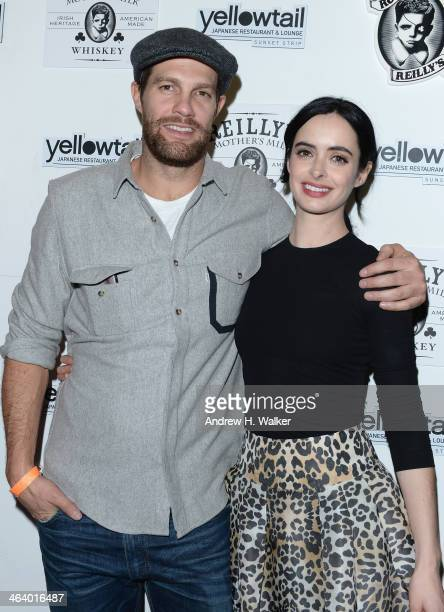 Geoff Stults and Krysten Ritter attend LORE Group Light Group Present Chef Akira Back's Yellowtail Cocktail Party hosted by Krysten Ritter Geoff...