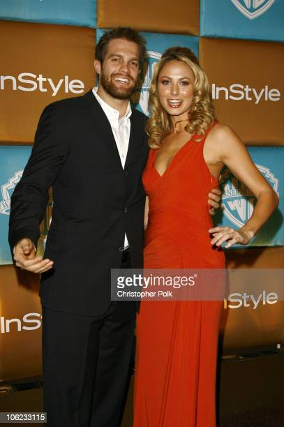 Geoff Stults and Stacy Keibler during In Style Warner Bros Studios Host 8th Annual Golden Globe Party Arrivals at Oasis Court Beverly Hilton Hotel in...
