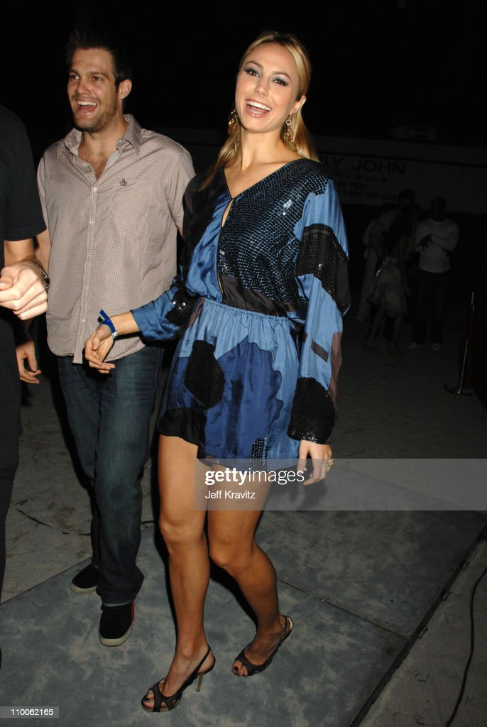 Geoff Stults and Stacy Keibler during Marc Anthony and Jennifer Lopez in Concert Arrivals at Pontiac Garage Stage in Miami Florida United States