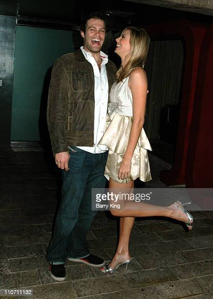 Geoff Stults and Stacy Keibler during 'October Road' Premiere Party Inside at Geisha House in Hollywood California United States