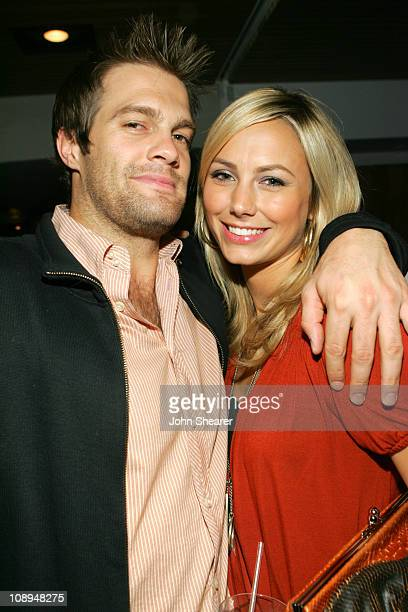 Geoff Stults and Stacy Keibler during Rock Republic Spring 2007 Preview Party Inside at Area Nightclub in West Hollywood California United States