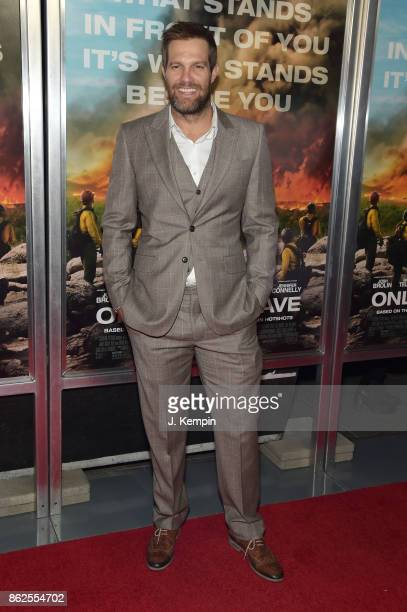 Geoff Stults attends 'Only The Brave' screening at iPic Theater on October 17 2017 in New York City