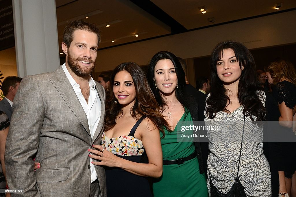 Geoff Stults, Azita Ghanizada, Jaime Murray and Zuleikha Robinson attend the UNICEF NextGen Los Angeles launch at LACMA on May 9, 2013 in Los Angeles, California.