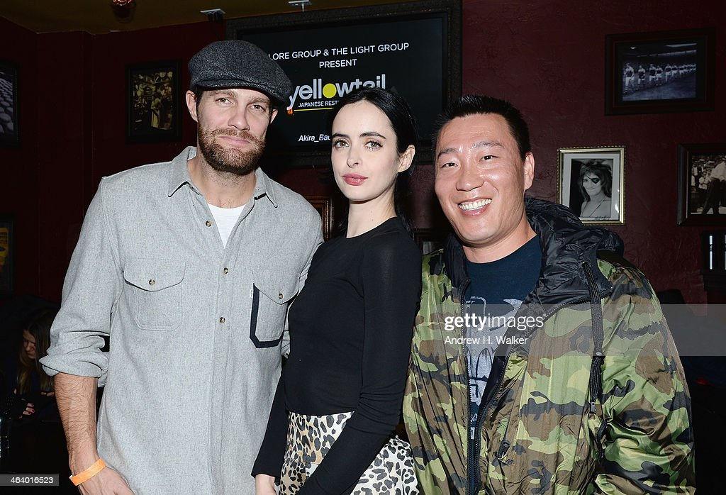 Geoff Stults Krysten Ritter and chef Akira Back attend LORE Group Light Group Present Chef Akira Back's Yellowtail Cocktail Party hosted by Krysten...