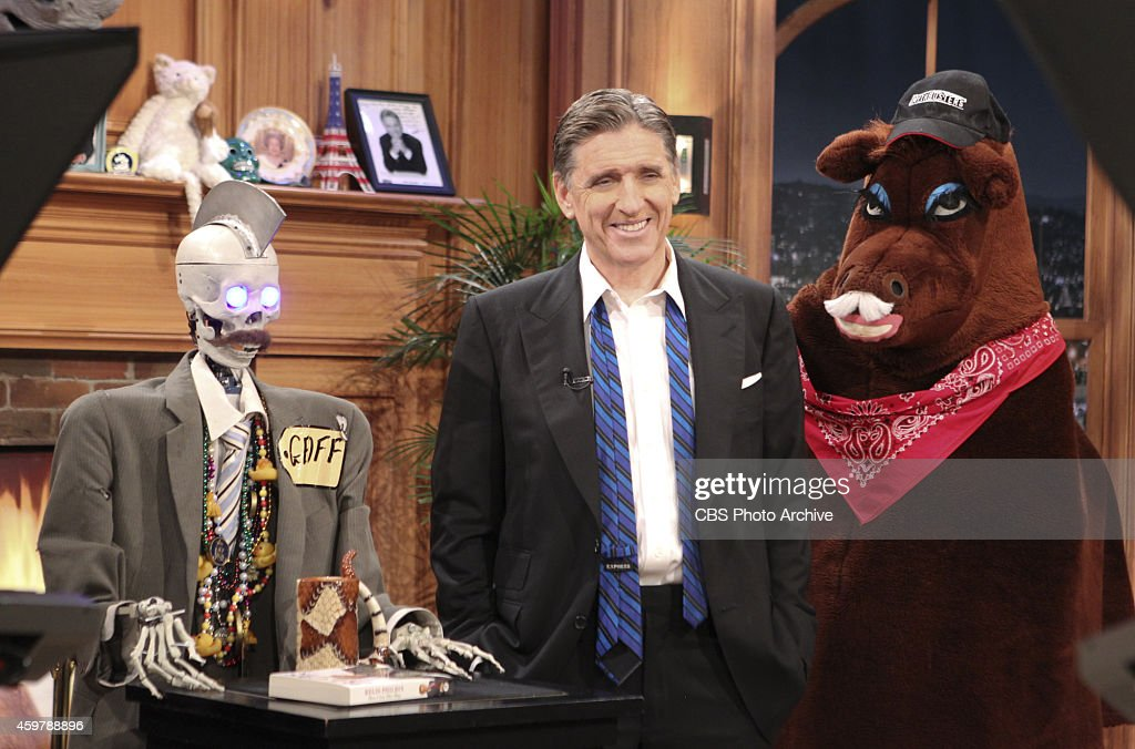 -- Geoff the Robot, from left, Craig Ferguson and Secretariat on THE LATE LATE SHOW WITH CRAIG FERGUSON, scheduled to air Thursday, Nov. 27, 2014 on the CBS Television Network.