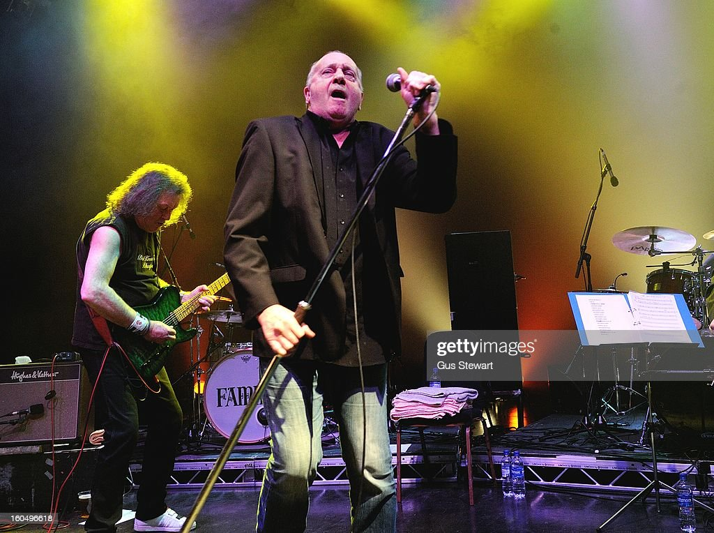 Geoff Whitehorn and Roger Chapman of Family perform on thier 40th annivesary at O2 Shepherd's Bush Empire on February 1, 2013 in London, England.