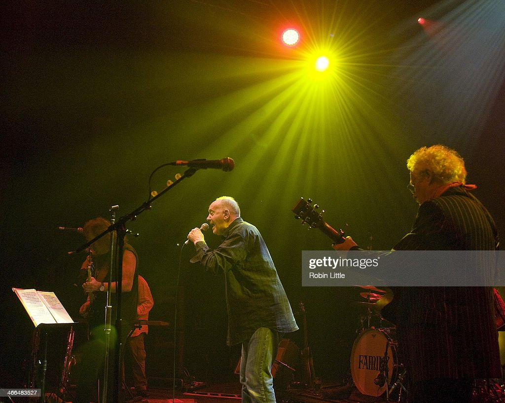 Geoff Whitehorn, Roger Chapman and Jim Cregan of Family perform on stage at Shepherds Bush Empire on February 1, 2014 in London, United Kingdom.