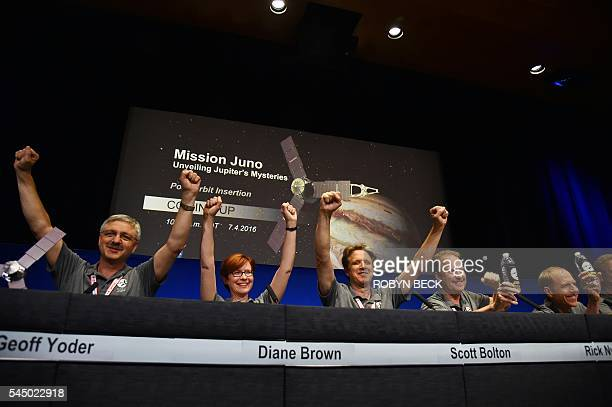 Geoff Yoder acting administrator for NASA's Science Mission Directorate Diane Brown NASA Juno program executive Scott Bolton Juno principal...
