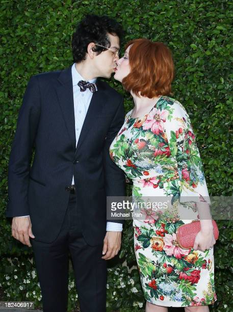 Geoffrey Arend and Christina Hendricks arrives at The Rape Foundation's Annual Brunch held at Ron Burkle's Green Acres Estate on September 29 2013 in...