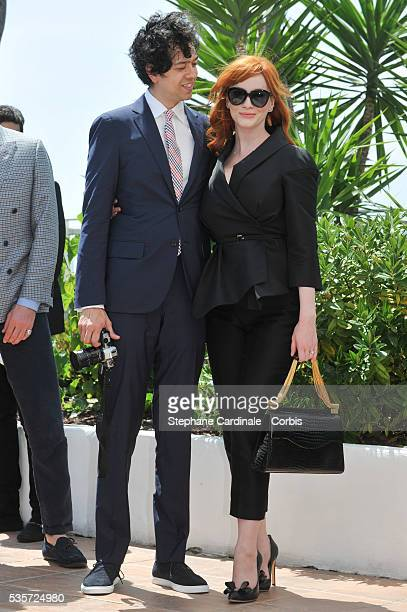 Geoffrey Arend and Christina Hendricks at the 'Lost River' photocall during the 67th Cannes Film Festival