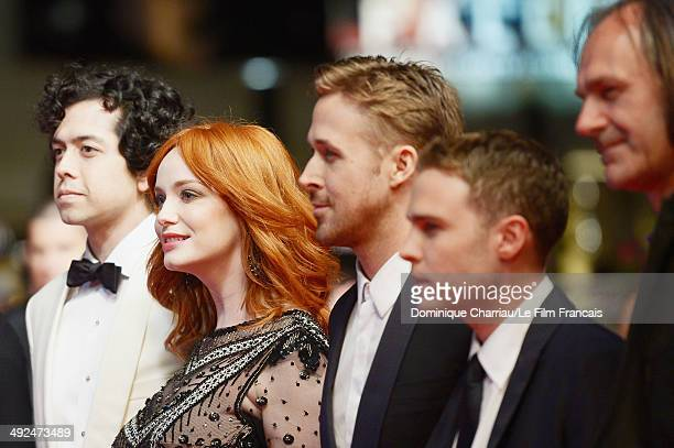 Geoffrey Arend Christina Hendricks Ryan Gosling Ian De Caestecker and guest attend the 'Lost River' Premiere during the 67th Annual Cannes Film...