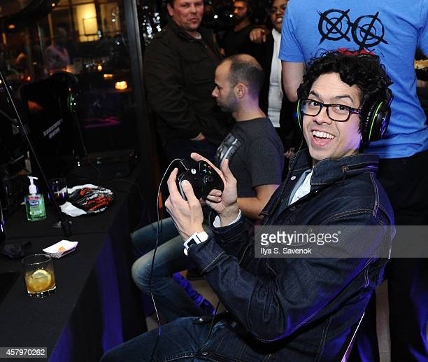 Geoffrey Arend get hands on with Sunset Overdrive and the hottest games on Xbox One on October 27 2014 in New York City