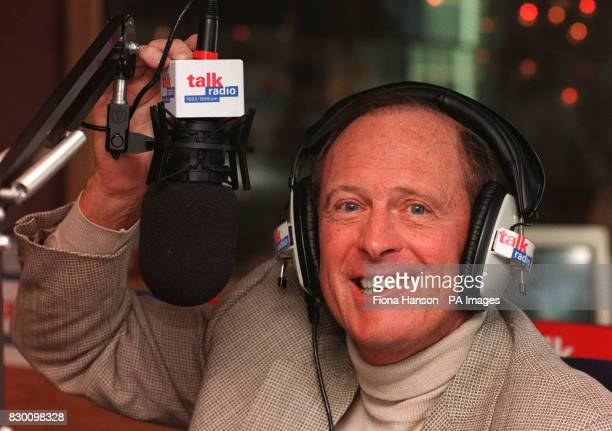 Geoffrey Boycott being interviewed on Talk Radio in London today Picture Fiona Hanson/PA