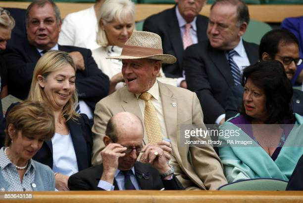 Geoffrey Boycott in the royal box on centre court during day three of the Wimbledon Championships at the All England Lawn Tennis and Croquet Club...