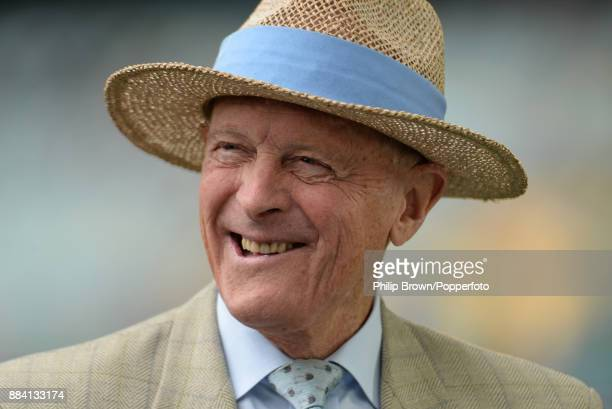 Geoffrey Boycott of BT sport laughs before the first day of the second Ashes cricket test match between Australia and England at the Adelaide Oval on...