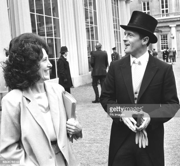 Geoffrey Boycott with his close companion Anne Wyatt after the Yorkshire and England cricketer received his OBE at Buckingham Palace