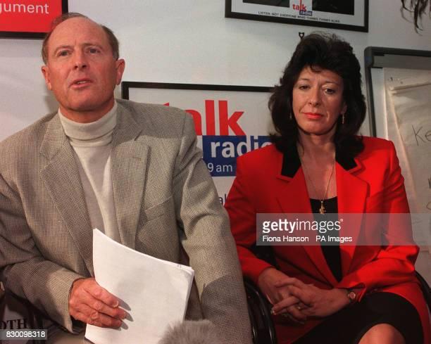 Geoffrey Boycott with his girlfriend Rachel Swinglehurst at Talk Radio in London this morning Picture Fiona Hanson/PA