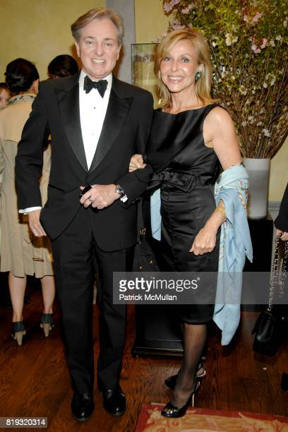Geoffrey Bradfield and Susan Chalom attend de Grisogono hosts The Central Park Conservancy's Platinum Jewels in Bloom Cocktail Reception at de...