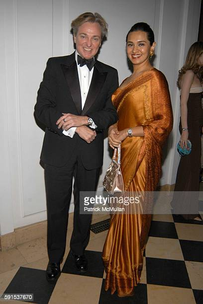 Geoffrey Bradfield and Uzma SarfarazKhan attend Neue Gallery Winter Gala Sponsored by Gucci at Neue Gallery New York on December 8 2005 in New York...