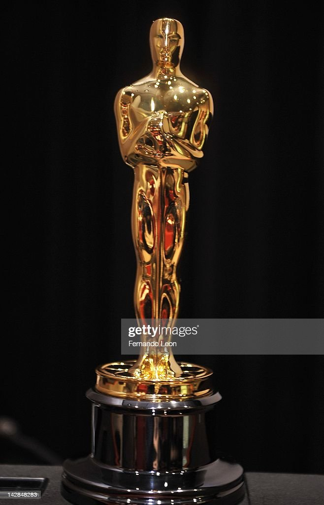 Geoffrey Fletcher's Academy Award for Adapted Screenplay is displayed on the podium during the Academy Of Motion Picture Arts And Sciences' 'Discover...
