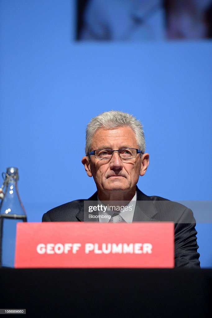 Geoffrey 'Geoff' Plummer, chief executive officer of Arrium Ltd., attends the company's annual general meeting in Melbourne, Australia, on Monday, Nov. 19, 2012. Arrium, which rebuffed a A$1.2 billion ($1.24 billion) takeover offer from a Noble Group Ltd. and Posco-led consortium last month, said Plummer will step down as chief executive officer by the end of next year. Photographer: Carla Gottgens/Bloomberg via Getty Images