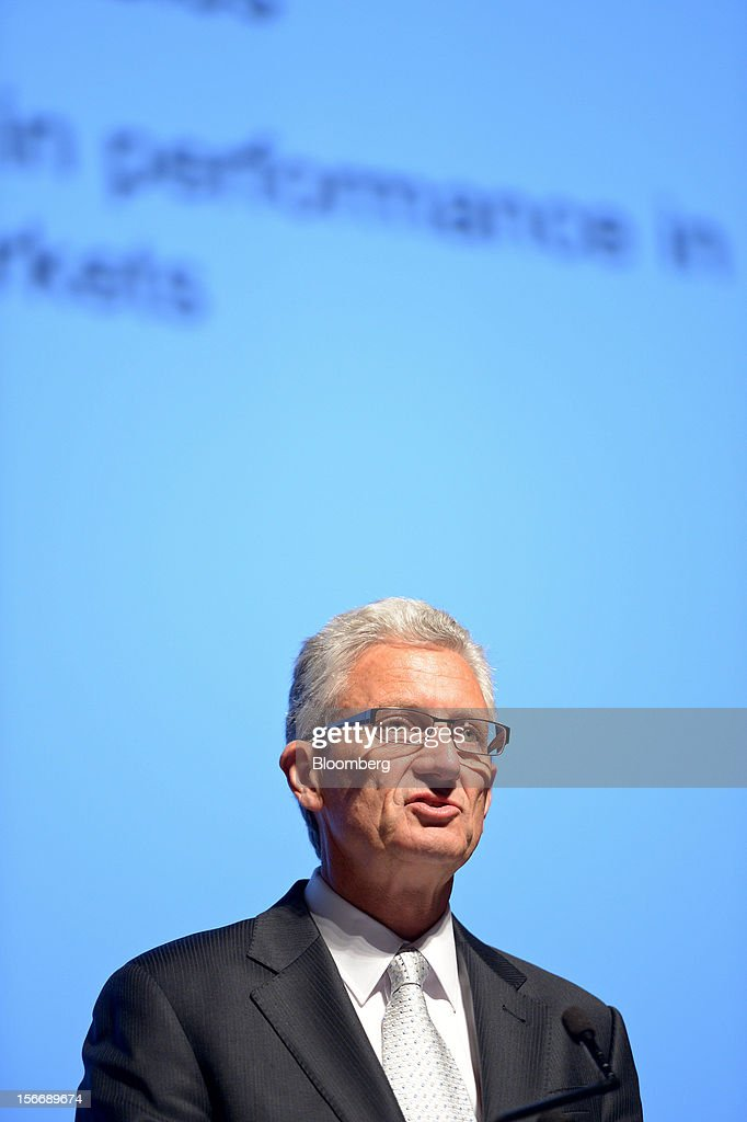 Geoffrey 'Geoff' Plummer, chief executive officer of Arrium Ltd., speaks during the company's annual general meeting in Melbourne, Australia, on Monday, Nov. 19, 2012. Arrium, which rebuffed a A$1.2 billion ($1.24 billion) takeover offer from a Noble Group Ltd. and Posco-led consortium last month, said Plummer will step down as chief executive officer by the end of next year. Photographer: Carla Gottgens/Bloomberg via Getty Images
