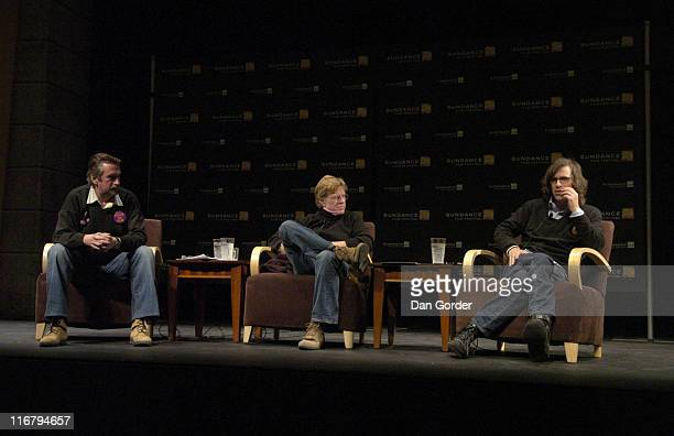 Geoffrey Gilmore Director of Sundance Film Festival Robert Redford President and Founder of Sundance Institute and Brett Morgen director of 'Chicago...