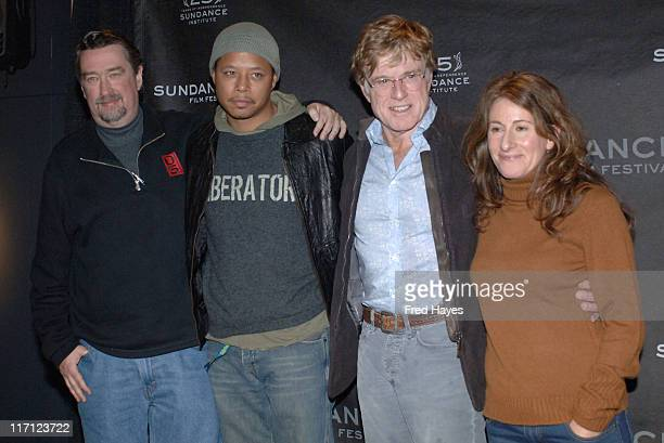 Geoffrey Gilmore Terrence Howard Robert Redford and Nicole Holofcenor